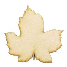 Sycamore Leaf cut from 3mm MDF, Craft Blanks, Shapes, Tags, Autumn Leaf